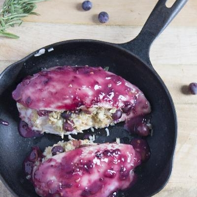 Ontario Coronation Grape Stuffed Chicken