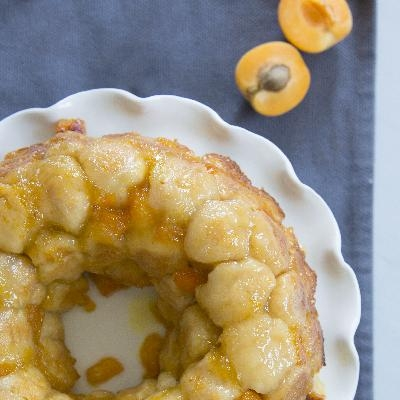 Ontario Apricot, Almond and Ginger Monkey Bread