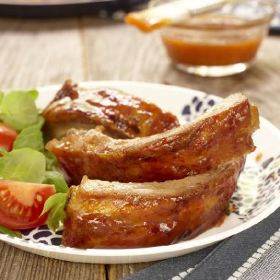 Ontario Peach-Glazed Ribs