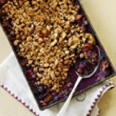 Barbecued Summer Fruit Gratin