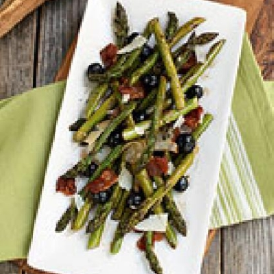 Roasted Asparagus and Coronation Grape Salad